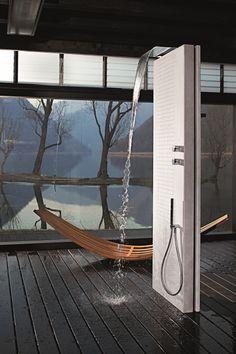 FLOOR STANDING MULTIFUNCTION SHOWER COLUMN ACQUAPURA SERIES BY FANTINI  RUBINETTI | DESIGN FRANCO SARGIANI