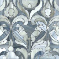 New Ravenna Kiddo line.  Bunnies in honed labradorite and alabaster jewel glass.  Gorgeous.
