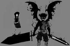 Manga Anime, Anime Demon, Otaku Anime, Anime Guys, Anime Art, Clover Tattoos, Black Clover Manga, Dark Drawings, Pokemon