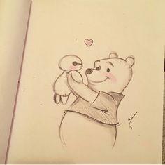 Easy Disney Drawings, Cute Easy Drawings, Amazing Drawings, Cartoon Girl Drawing, Cartoon Drawings, Pencil Art Drawings, Art Drawings Sketches, Cute Sketches, Pinturas Disney