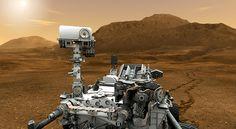 Mars Rover Curiosity in Artist's Concept, Close-up