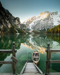 Lago Di Braies is settled in the Dolomite mountain range. This lake and its crystal clear waters are the definition of picturesque. The brilliant light and changing weather make it an awesome spot to explore with unreal scenery. Be sure to bring your camera. Photo: @chrisburkard by natgeotravel