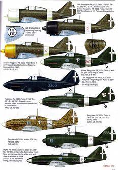aircraft  /  aviation  /  WWII  /  1942  /  1943  /  rivista  /  Italy  /  Reggiane          ...........         https://flic.kr/p/9PUchx | Reggiane RE 2000, 2001, 2002 & 2005