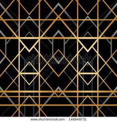 Art deco geometric pattern 1920s style