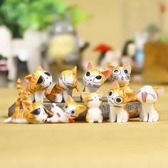 Décoration Marionnettes Mignon PVC Chats Modèle Japonais Anime Chiffres Doux Cadeau Pour Enfants Figures Animales Jouets Modèle