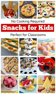 No-Cook Snack Ideas for Kids - Teaching 2 and 3 year olds