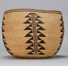 Yurok (northwest California), Basket, plant fibers, c. 1890.