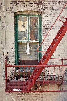 Red fire escape
