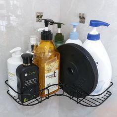 Bathroom Store, Small Bathroom, Camper Bathroom, Bathrooms, Bathroom Organisation, Organization Hacks, Corner Shower Caddy, Shampoo Bottles, Remodeled Campers