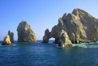 Cabo.  This arch floods at high tide late every afternoon, then shows it's sandy pennisula sand at low tide.  Beautiful.  And fun.