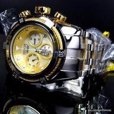 923dabcae Invicta Reserve Bolt Zeus High Polish Steel Chronograph Swiss 52mm MOP  Watch New