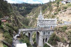 The Ecuador Colombian border at Santuario de las Lajas