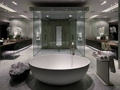 Luxury Bathroom Master Baths Dreams is utterly important for your home. Whether you choose the Small Bathroom Decorating Ideas or Luxury Bathroom Master Baths With Fireplace, you will make the best Interior Design Ideas Bathroom for your own life. White Master Bathroom, Luxury Master Bathrooms, Dream Bathrooms, Beautiful Bathrooms, Small Bathroom, Marble Bathrooms, Bathroom Ideas, Bathroom Vanities, Bathroom Layout