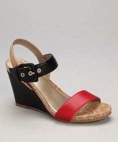 Take a look at this Red Patent Triumph Wedge by White Mountain on #zulily today! $26.99, regular 59.00