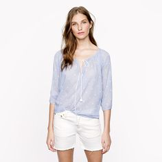 Love this peasant top in both of the colors it comes in