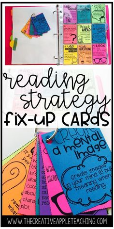 Fix-up Comprehension Strategy Cards Reading Strategies Posters, Reading Comprehension Strategies, Reading Lessons, Reading Skills, Reading Mastery, Small Group Reading, Close Reading, Guided Reading Groups, Reading Conference