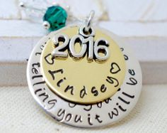 Código Morse 2016 graduación collar regalo por ErinElizabethCarson