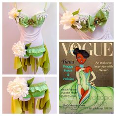 By: Electric Laundry Tiana Halloween Costume, Tiana Disney, Rave Dance, Electric Laundry, Bra Hacks, Rave Costumes, Green Gown, New Wife, Daddys Little Girls