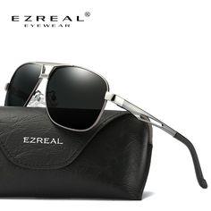 EZREAL Óculos De Sol Dos Homens Polarizados Óculos De Sol Do Vintage de  Condução Espelho Óculos 77ac84f624
