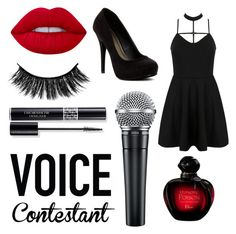 """Voice Contestant"" by pink-pixie48 ❤ liked on Polyvore featuring WithChic, Lime Crime, Michael Antonio, Christian Dior, thevoice and YahooView"