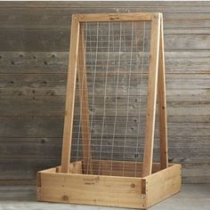 so cool- This unique trellis provides support to vertical growing plants. The sturdy galvanized wire mesh provides support for fruiting vines and is strong enough to support heavier plants like squashes and melons. Plant sun-sensitive vegetables like lettuces and leafy greens in the shade beneath the ladder.