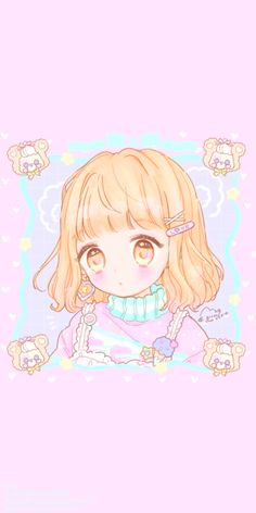 Image discovered by 𝐆𝐄𝐘𝐀 𝐒𝐇𝐕𝐄𝐂𝐎𝐕𝐀 👣. Find images and videos about fashion, cute and beautiful on We Heart It - the app to get lost in what you love. Cute Kawaii Girl, Anime Girl Cute, Kawaii Anime Girl, Anime Art Girl, Wallpapers Kawaii, Kawaii Wallpaper, Cute Cartoon Wallpapers, Cute Anime Chibi, Kawaii Chibi