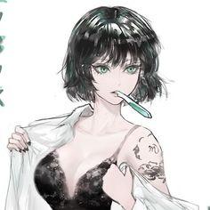ArtStation - Commission: Jigoku no Fubuki, Iury Padilha Opm Manga, Manga Anime Girl, Anime One, Dark Anime, Kawaii Anime Girl, Anime Guys, Female Character Design, Cute Anime Character, Character Art