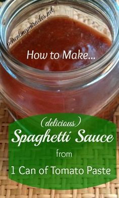 How to Make Spaghetti Sauce from 1 Can of Tomato Paste
