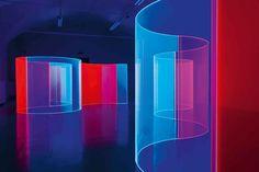 "Regine Schumann, Connect, Back to Back, 2011, Fluorescent Plexiglass, 4.26' x 6.56' x 4.7"", 12 elements"