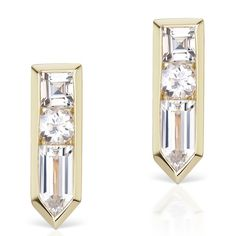 The Jewellery Editor: Forecast Friday: earring trends for the year ahead  We speak to the jewellers who are setting the trends to find out what the future holds for earrings in 2017. (Jane Taylor white topaz and yellow gold Arrow studs)