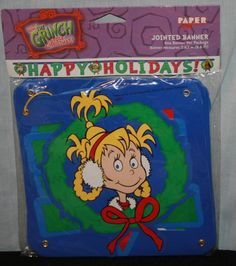dr seuss how the grinch stole christmas happy holidays jointed banner 86 new