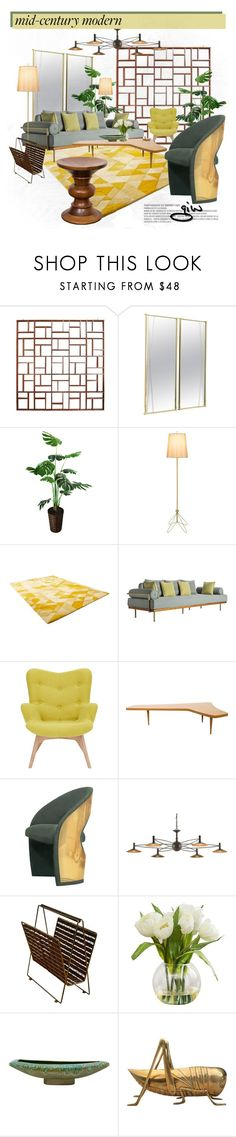 """mid-century modern..."" by ian-giw ❤ liked on Polyvore featuring interior, interiors, interior design, home, home decor, interior decorating, Paul McCobb, Lights Up!, Cyan Design and Bella Loco"
