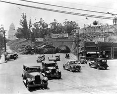 Downtown Broadway tunnel- north side 1929