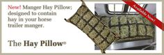 Manger Hay Pillow contains hay in a horse trailer manger. Keep it off the floor and out of your horse's eyes! Slow Feeder, Easy Fill, Net Bag, Floor, Horses, Pillows, Eyes, Cushion, Horse