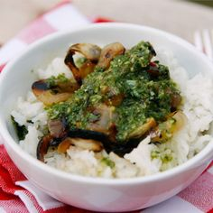 An easy recipe for basil chimichurri using fresh basil, garlic, olive oil, red wine vinegar and spices.
