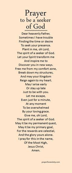 May Lisa and I be seekers of you. Lord, thanks for still allowing us to choose to still seek you when we have failed many times. Note: I also pray this for myself and for everyone! Prayer Times, Prayer Scriptures, Bible Prayers, Faith Prayer, God Prayer, Prayer Quotes, Spiritual Quotes, Bible Quotes, Strength Prayer