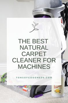This safe, gentle carpet cleaner for machines is free of harsh chemicals, but still deep cleans your carpets. It is cost-effective too! Harsh cleaners are full of toxins that are harmful to your health. Let's ditch the traditional carpet cleaning solutions for this natural option!