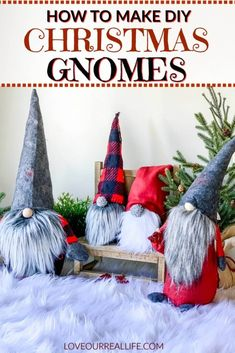 How to Make Christmas Gnomes: Sew and No Sew Instructions Learn to how make your own DIY Christmas gnomes. Tutorial for no sew sock version as well as DIY gnomes using simple sewing. - How to Make Christmas Gnomes: Sew and . Christmas Gnome, Christmas Projects, Winter Christmas, Christmas Door, Christmas Ideas, Girls Night Crafts, Craft Night, Diy Xmas, Holiday Crafts