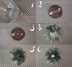 DIY_feather_fascinator_tutorial_1      http://makeanddogirl.com/2012/02/tutorial-upcycle-a-vintage-earring-into-a-feather-hair-clip/  3