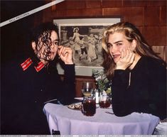 Michael Jackson - Michael and Brooke Shields dinner