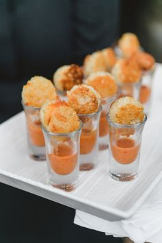 Oluwalu Plantation House Wedding Maui Hawaii Tomato Soup Grilled Cheese Shooters Event Production and Catering: Celebrations Catering Maui Photography: Mike Adrian Decor: Rio Event Design Floral: Teresa Sena Designs