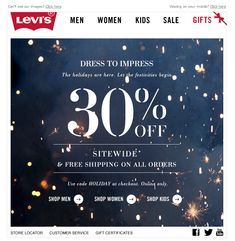 Levi's 2012 Holiday email