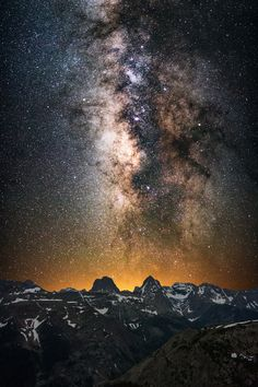 in·fin·i·tes·i·mal - When I realized that the Milky Way would line up directly above my two favorite Colorado mountains - Vestal Peak and Arrow Peak - at 2:30 AM, I set my alarm for 1:00 AM at my 12,200 foot campsite to climb to 13,000 feet to witness it. I have a much crazier version of this shot on my website that is a vertirama but it likely does not work on 500px.