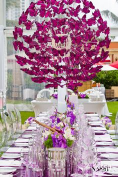 Purple Fairy Tale #WeddingArrangements #WeddingDecorations #Centerpiece http://www.acqualinaresort.com/meetings-weddings/acqualina-weddings/