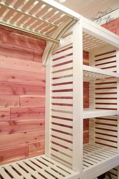 Allen And Roth Slatted Shelving/closet System Cedar Lining, Our Nursery  Closet Plan