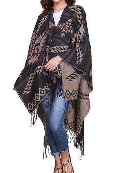 ee2aab7e0495 New Tribal AZTEC Bohemian PRINT FRINGED KIMONO Scarf ~FREE GIFT~