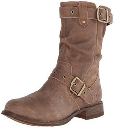 Caterpillar Women's Midi Motorcycle Boot, Tuscan Brown.  CUTE!!!  I wear these ALL THE TIME ... so comfy and can be worn with skinny jeans/leggings tucked in or with bootcut pants over top of them.