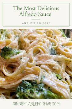 Alfredo Sauce - Dinner Table For Five Alfredo sauce needs no introduction. If I could, I would swim in it the way Uncle Scrooge swims in his pool of gold in Easy Whole 30 Recipes, Best Dinner Recipes, Quick Easy Meals, Easy Recipes, Chutneys, Whole30 Recipes Lunch, Healthy Recipes, Ketchup, Dressings