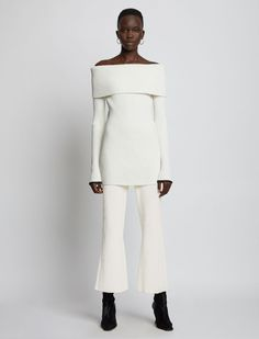 Cropped Flare Pants, Proenza Schouler, Rib Knit, Beautiful Outfits, Trousers, Normcore, Style Inspiration, Legs, High Waist