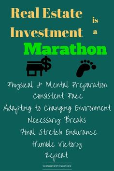 Real estate investment is a marathon